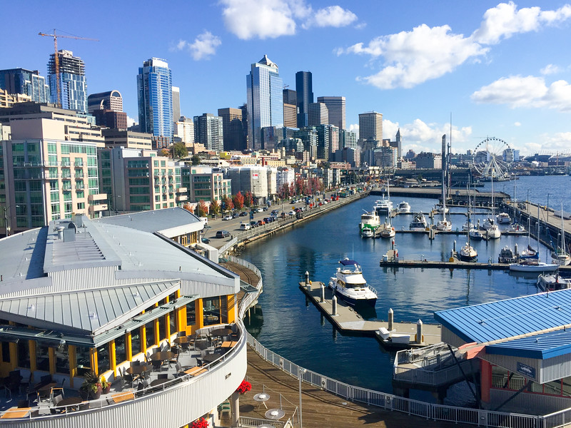 Nice view of the Seattle waterfront