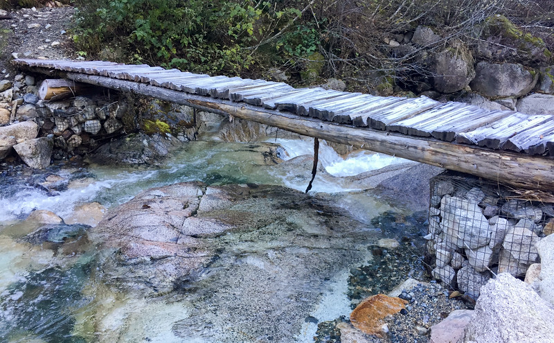On my hike I got to cross this cool bridge.  It still had frost on it from the morning (which made it slippier and a little more harrowing to cross.