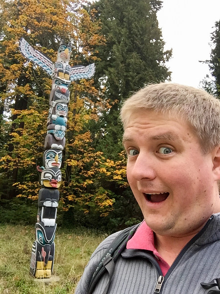 One of these is a national symbol that many travel miles to gaze at the splendor of ....the other thing is a totem pole.