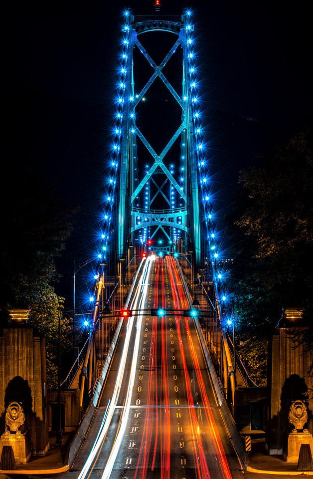 Lionsgate Bridge @ Night