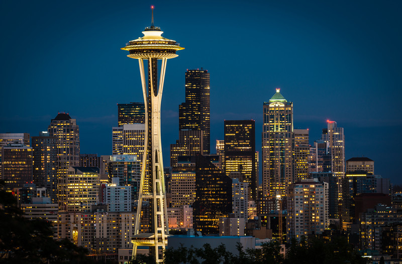 Twilight over Seattle