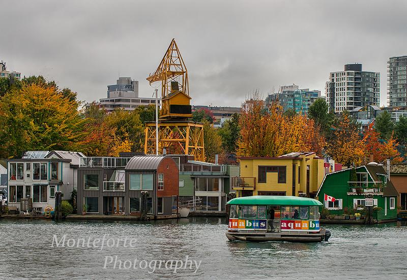 House boats on false creek Vancouver BC