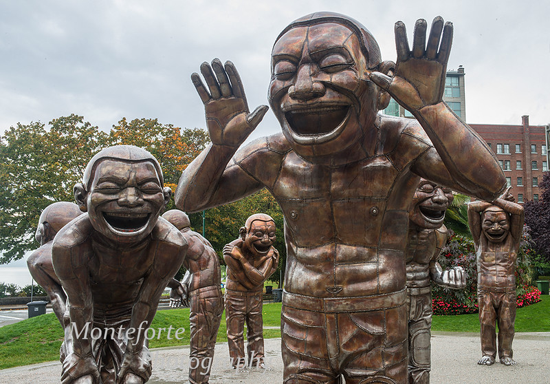 Statues in park Vancouver BC