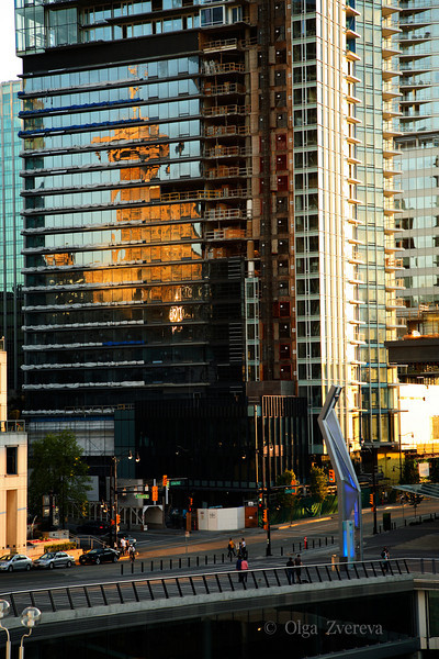 <p>City Reflection, Downtown Vancouver, British Columbia, Canada</p>