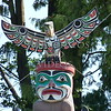 Totem poles at Stanley Park in Vancouver, British Columbia, Canada.