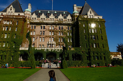 The Empress, our hotel in Victoria.