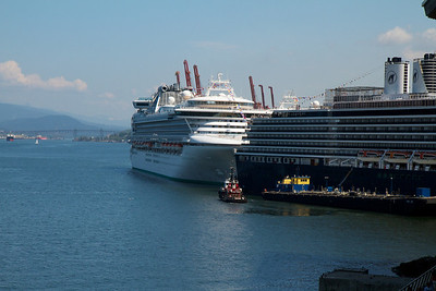 Two cruise ships