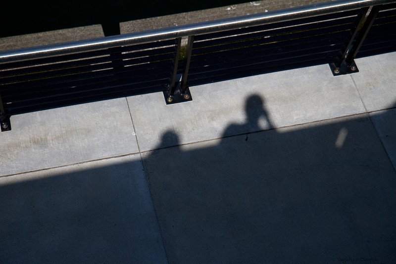 Peering over the rails