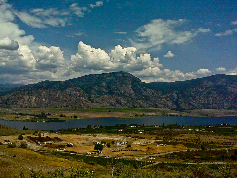 View entering Osoyoos.