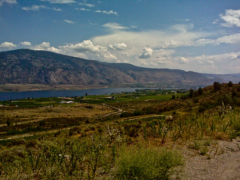 View entering Osoyoos.  That's the town on the far right.