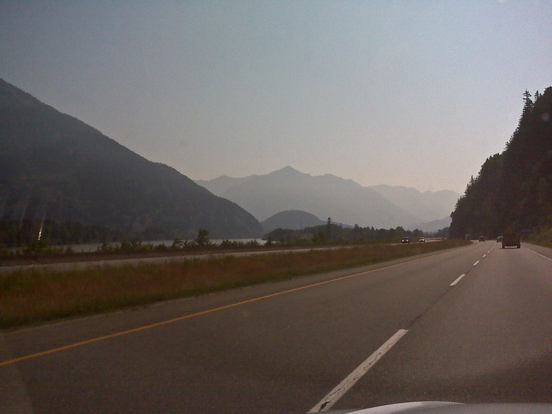 About an hour or so outside of Vancouver