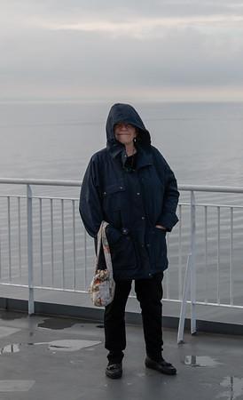 Heidi on the ferry