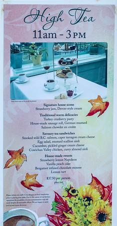 Restaurant serving High Tea at Butchart