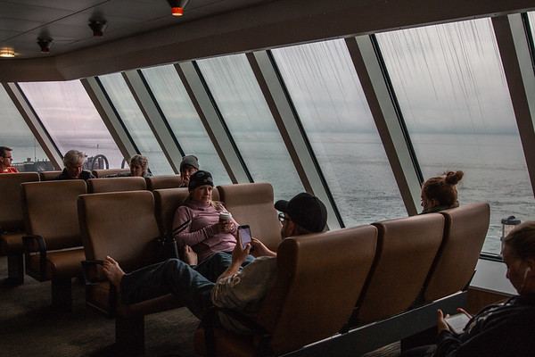 Comfy seats for the hour long ferry ride.