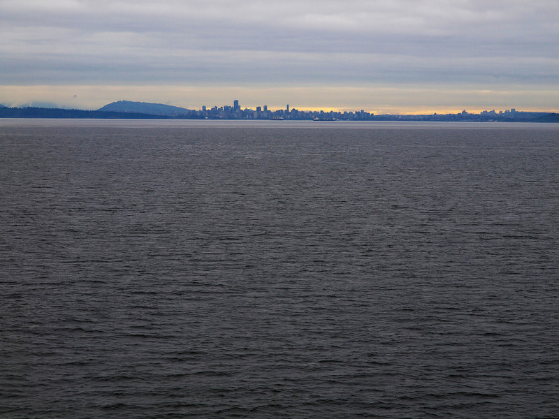 View of Vancouver as we depart Horseshoe Bay