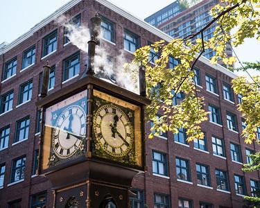 Vancouver, famous Gastown steam clock