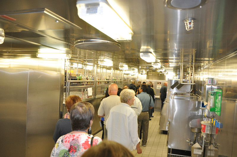 Cooking demonstration followed by a tour of the kitchen.  Since 9-11 there are no more tours allowed of the bridge or engine room.