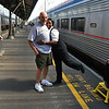 Rich, a passenger from my train with Lorna, our very friendly cabin attendant.