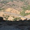 Looking down on highway 101's Cuesta Grade.