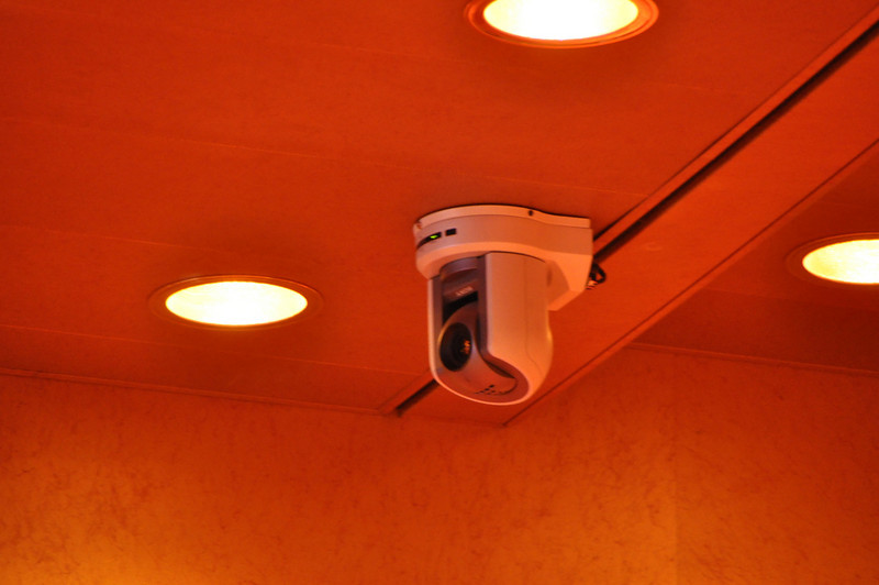 Sony security camera for lecture demonstration support.