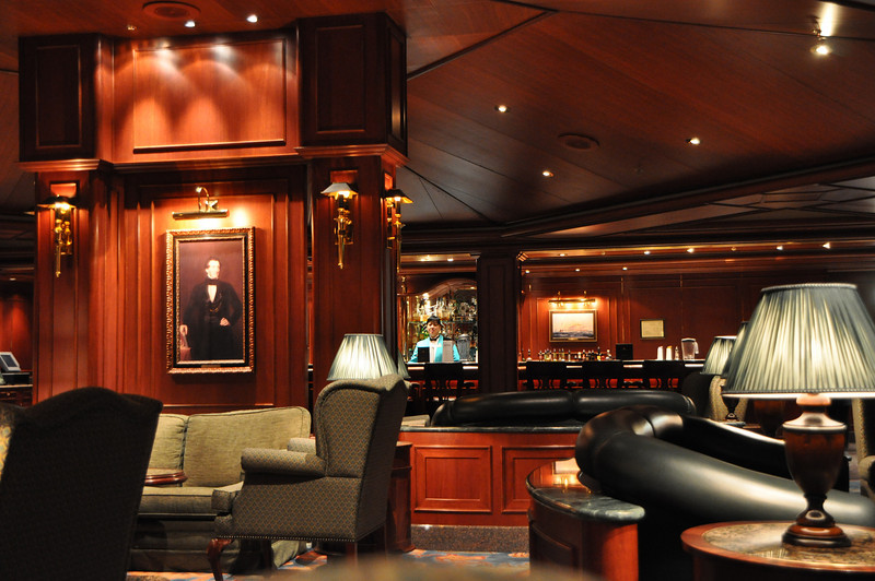 One of the many bars on board.