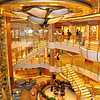 The main atrium with glass elevators.