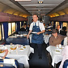 The Amtrak crew are very freindly.  First and second class get their meals in the dining car as part of their fare, coach travelers have to pay for any meals they want.