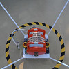 This was welded to the deck on the passenger area of the bow.  I didn't know that cruise ships have a flight data recorder.