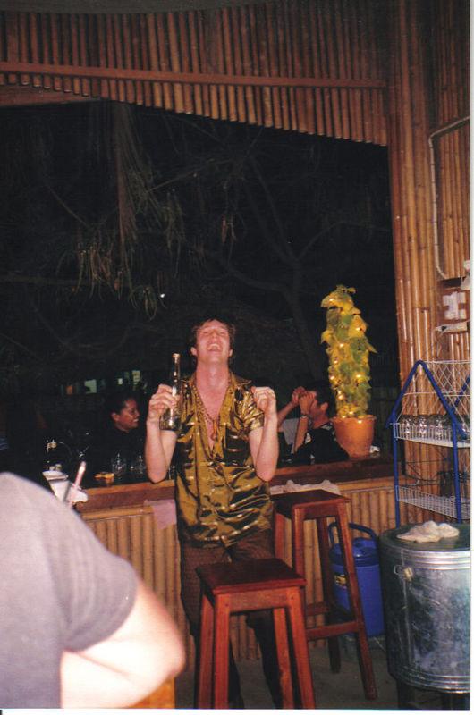 Our bartender, good friend, and drunk, Clarkie.