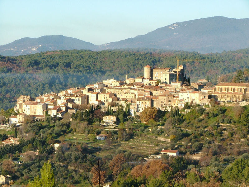 Callian village as viewed from Montauroux