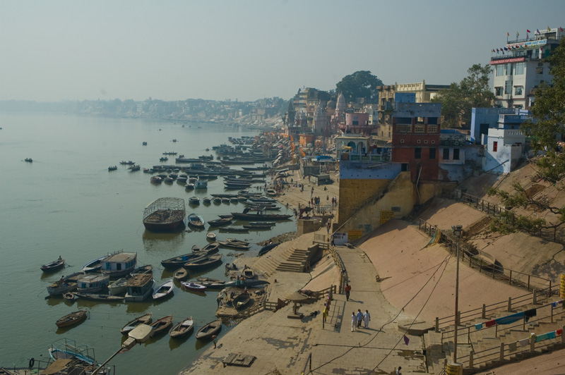 My first view of the River Ganga from Varanasi.