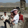 Jeane with Baby - Daulatabad Fort