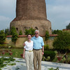 Craig and Jeane by 500 AD Dhamekh Stupa