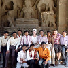 Jeane and New Best Friends in Front of the Goddess of Money, Ellora Caves
