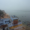 Morning View from Dolphin Restaurant over Rashmi Guest House, Varanasi II