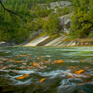 Upstream from Vernal Falls in Yosemite