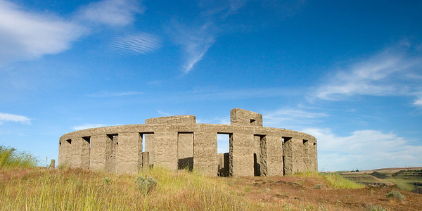 The Stonehenge Memorial near Maryhill, Washington, on the banks of the Columbia River.