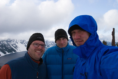 Andy, Thad & me hogging the view of Crater Lake