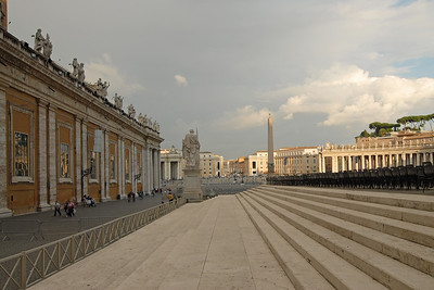 Saint Peter's Square (Piazza San Petro), is located directly in front of St. Peter's Basilica in the Vatican City which is the papal enclave within Rome. It can be reached by Via della Conciliazione and Via Paolo VI