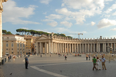 Saint Peter's Square (Piazza San Petro), is located directly in front of St. Peter's Basilica in the Vatican City which is the papal enclave within Rome. It can be reached by Via della Conciliazione and Via Paolo VI. Vatican, Rome, Italy
