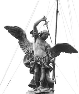 Archangel Michael by Peter Anton von Verschaffelt, 1753