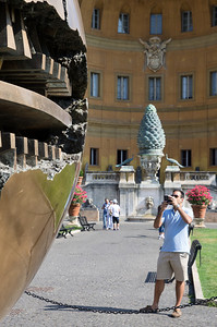 The Cortile del Belvedere the Belvedere Courtyard, designed by Donato Bramante from 1506 onwards, was a major architectural work of the High Renaissance at the Vatican Palace in Rome; its concept and details reverberating in courtyard design, formalized piazzas and garden plans throughout Western Europe for centuries. Conceived as a single enclosed space, the long Belvedere court connected the Vatican Palace with the Villa Belvedere in a series of terraces connected by stairs, and was contained on its sides by narrow wings.  Bramante did not see the work completed, and before the end of the sixteenth century it had been irretrievably altered by a building across the court, dividing it into two separate courtyards.