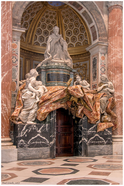 Bernini's Monument to Alexander VII. Note the skeleton over the door.