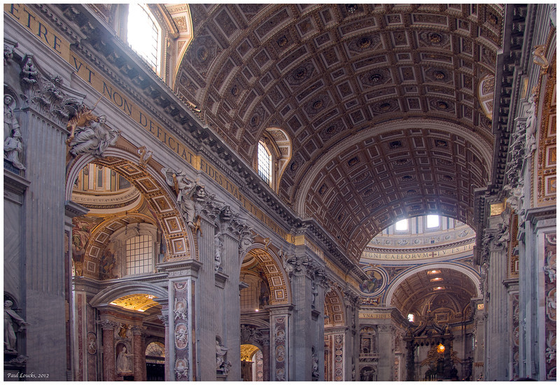 The great nave of St. Peter's Basilica.