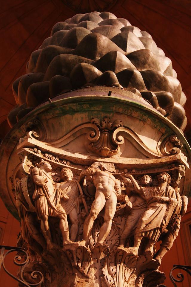 Pinecone sculpture.
