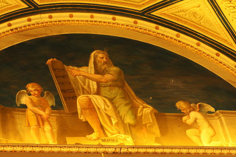 Moses (and Hebrew) at the Vatican.
