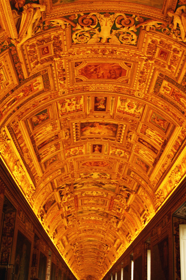 Another Vatican ceiling. Look closely - it's individual paintings.