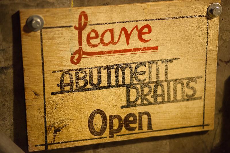 Leave Abutment Drains Open