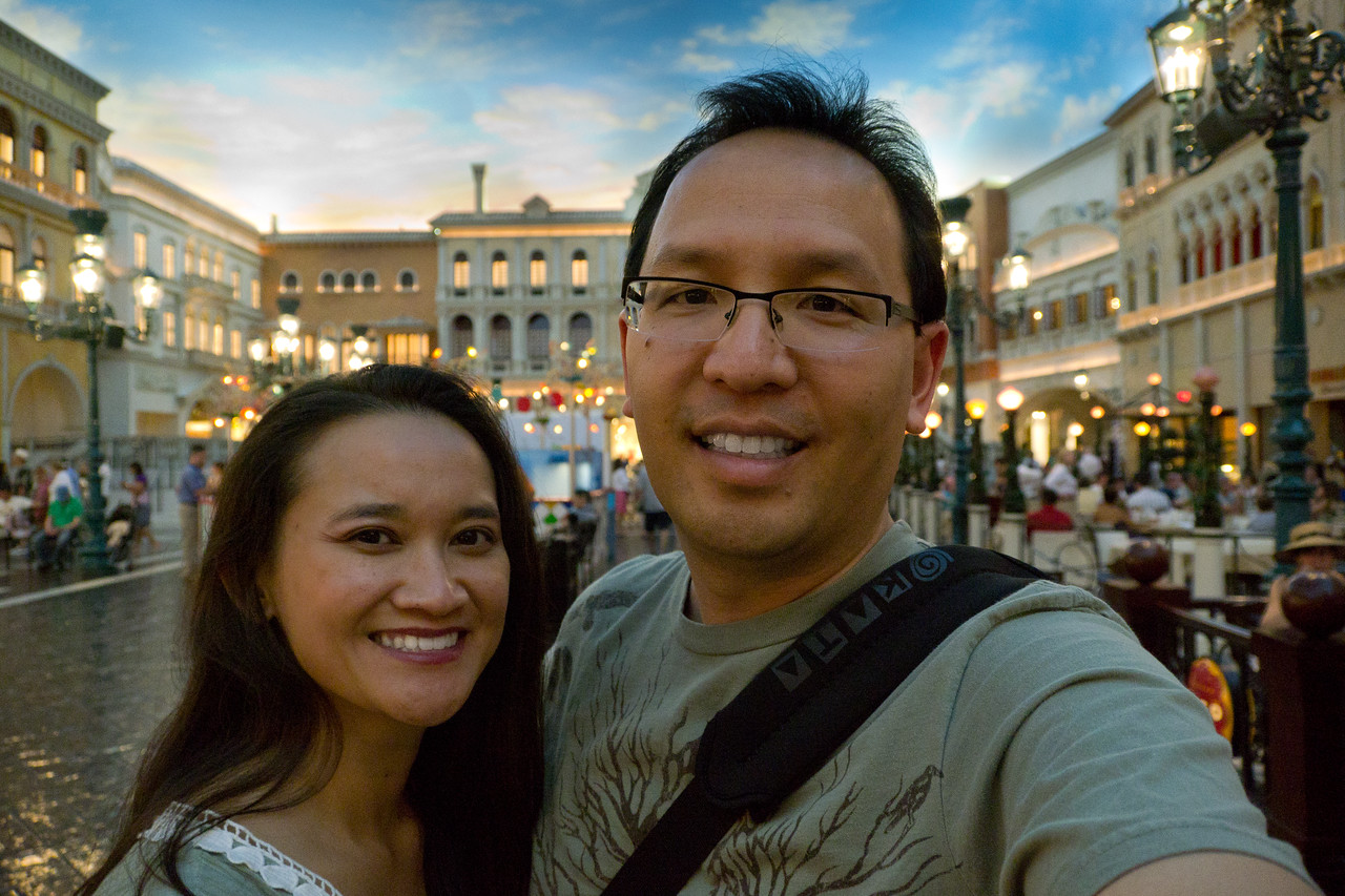 Catherine and Vu at the Grand Canal Shops at the Venetian