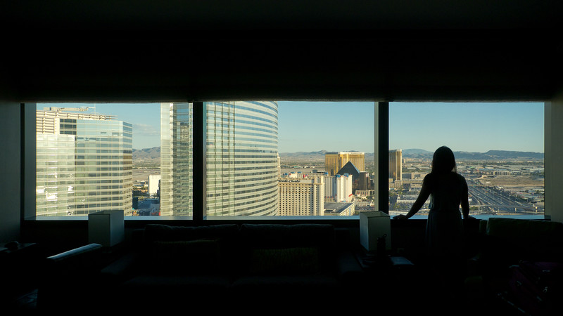 Daytime view from our suite at the Vdara